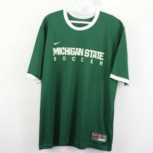 Nike Michigan State Spartans Soccer Jersey Green